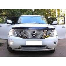 "SIM Nissan Patrol (Y62) '10- Дефлектор капота ""мухобойка"" (темный)"