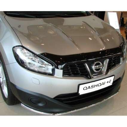 "SIM Nissan Qashqai +2 I '10-13 Дефлектор капота ""мухобойка"" (темный)"