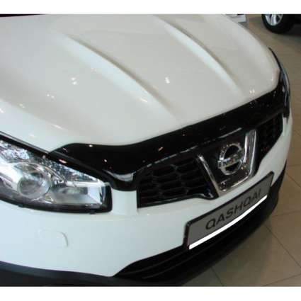 "SIM Nissan Qashqai I '10-13 Дефлектор капота ""мухобойка"" (темный)"
