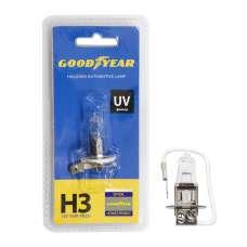 GOODYEAR Лампа автомобильная галогенная H3 12V 55W PK22s (блистер)