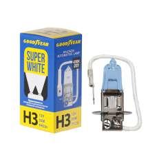 GOODYEAR Лампа автомобильная галогенная H3 12V 55W PK22s Super White