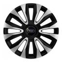 4 RACING Avalon Carbon Silver&Black R16 Колпаки для колес с логотипом Audi (Комплект 4 шт.)