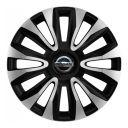 4 RACING Avalon Carbon Silver&Black R16 Колпаки для колес с логотипом Nissan (Комплект 4 шт.)