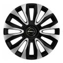 4 RACING Avalon Carbon Silver&Black R16 Колпаки для колес с логотипом Opel (Комплект 4 шт.)
