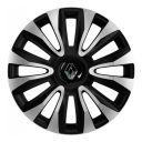 4 RACING Avalon Carbon Silver&Black R16 Колпаки для колес с логотипом Renault (Комплект 4 шт.)