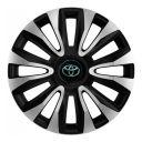 4 RACING Avalon Carbon Silver&Black R16 Колпаки для колес с логотипом Toyota (Комплект 4 шт.)