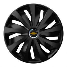 4 RACING Grip Pro Black R13 Колпаки для колес с логотипом Chevrolet (Комплект 4 шт.)