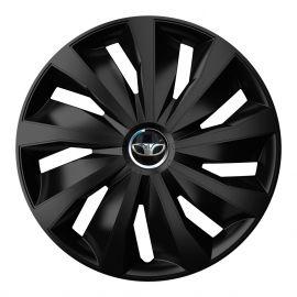 4 RACING Grip Pro Black R16 Колпаки для колес с логотипом Daewoo (Комплект 4 шт.)