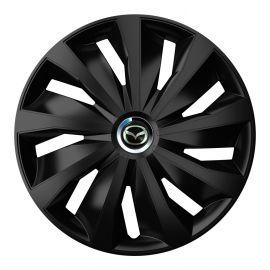 4 RACING Grip Pro Black R13 Колпаки для колес с логотипом Mazda (Комплект 4 шт.)