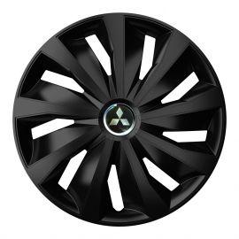 4 RACING Grip Pro Black R16 Колпаки для колес с логотипом Mitsubishi (Комплект 4 шт.)