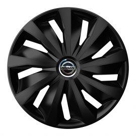4 RACING Grip Pro Black R16 Колпаки для колес с логотипом Nissan (Комплект 4 шт.)