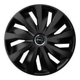4 RACING Grip Pro Black R15 Колпаки для колес с логотипом Opel (Комплект 4 шт.)