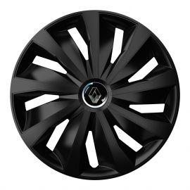4 RACING Grip Pro Black R16 Колпаки для колес с логотипом Renault (Комплект 4 шт.)