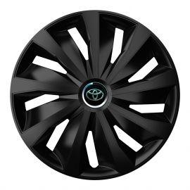 4 RACING Grip Pro Black R13 Колпаки для колес с логотипом Toyota (Комплект 4 шт.)