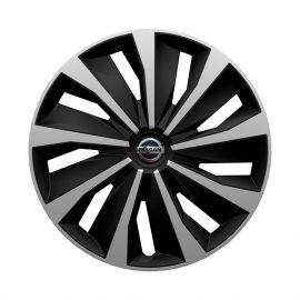 4 RACING Grip Silver&Black R14 Колпаки для колес с логотипом Nissan (Комплект 4 шт.)