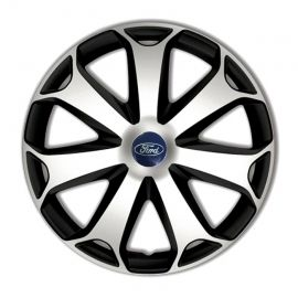 4 RACING Mega Silver&Black R14 Колпаки для колес с логотипом Ford (Комплект 4 шт.)