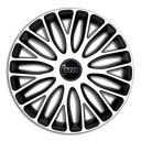 4 RACING Mugello White&Black R13 Колпаки для колес c логотипом Audi (Комплект 4 шт.)