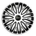 4 RACING Mugello White&Black R13 Колпаки для колес c логотипом Hyundai (Комплект 4 шт.)