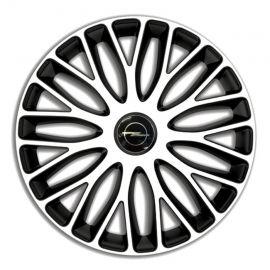 4 RACING Mugello White&Black R15 Колпаки для колес c логотипом Opel (Комплект 4 шт.)