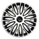 4 RACING Mugello White&Black R13 Колпаки для колес c логотипом Renault (Комплект 4 шт.)