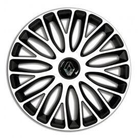 4 RACING Mugello White&Black R15 Колпаки для колес c логотипом Renault (Комплект 4 шт.)