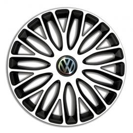 4 RACING Mugello White&Black R16 Колпаки для колес c логотипом Volkswagen (Комплект 4 шт.)