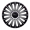 J-TEC Austin Silver&Black R13 Колпаки для колес с логотипом Audi (Комплект 4 шт.)