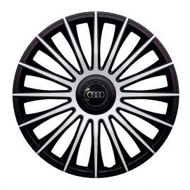 J-TEC Austin Silver&Black R14 Колпаки для колес с логотипом Audi (Комплект 4 шт.)