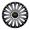J-TEC Austin Silver&Black R13 Колпаки для колес с логотипом Chevrolet (Комплект 4 шт.)