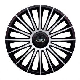J-TEC Austin Silver&Black R13 Колпаки для колес с логотипом Daewoo (Комплект 4 шт.)