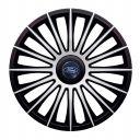 J-TEC Austin Silver&Black R13 Колпаки для колес с логотипом Ford (Комплект 4 шт.)