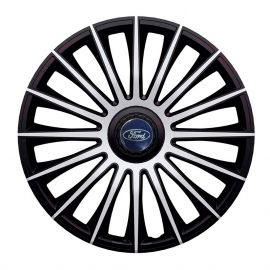 J-TEC Austin Silver&Black R14 Колпаки для колес с логотипом Ford (Комплект 4 шт.)