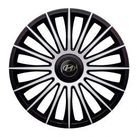 J-TEC Austin Silver&Black R14 Колпаки для колес с логотипом Hyundai (Комплект 4 шт.)