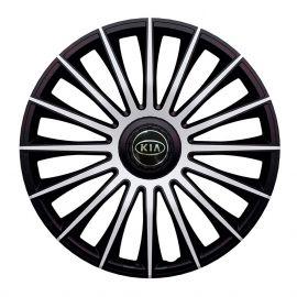 J-TEC Austin Silver&Black R14 Колпаки для колес с логотипом Kia (Комплект 4 шт.)