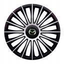 J-TEC Austin Silver&Black R13 Колпаки для колес с логотипом Mazda (Комплект 4 шт.)