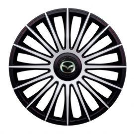J-TEC Austin Silver&Black R14 Колпаки для колес с логотипом Mazda (Комплект 4 шт.)