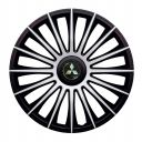 J-TEC Austin Silver&Black R13 Колпаки для колес с логотипом Mitsubishi (Комплект 4 шт.)