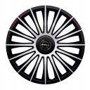 J-TEC Austin Silver&Black R13 Колпаки для колес с логотипом Opel (Комплект 4 шт.)