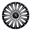 J-TEC Austin Silver&Black R13 Колпаки для колес с логотипом Peugeot (Комплект 4 шт.)