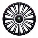J-TEC Austin Silver&Black R13 Колпаки для колес с логотипом Skoda (Комплект 4 шт.)
