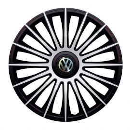 J-TEC Austin Silver&Black R13 Колпаки для колес с логотипом Volkswagen (Комплект 4 шт.)