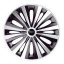 J-TEC Multi Silver&Black R15 Колпаки для колес с логотипом Audi (Комплект 4 шт.)