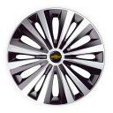J-TEC Multi Silver&Black R15 Колпаки для колес с логотипом Chevrolet (Комплект 4 шт.)